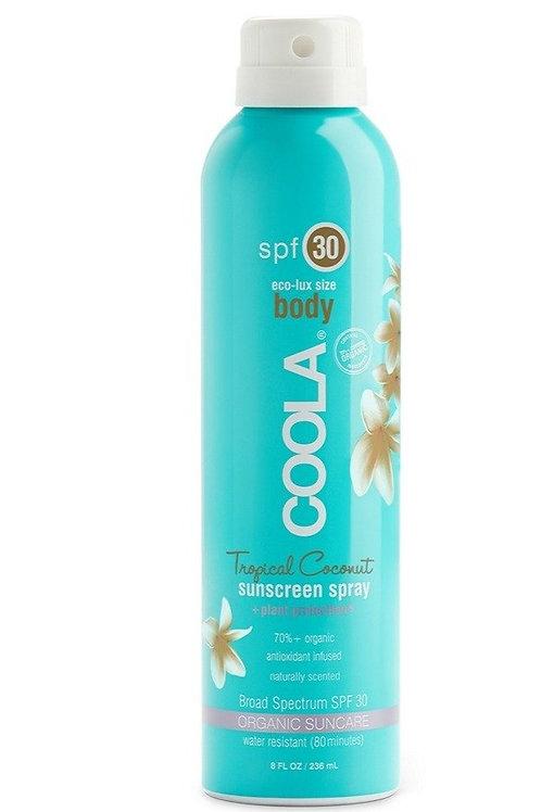 Body SPF 30 Tropical Coconut Organic Sunscreen Spray