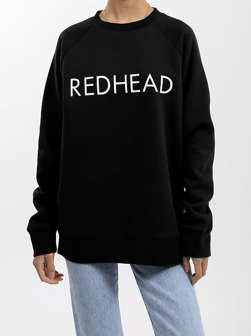 "BRUNETTE THE LABEL - ""REDHEAD"" Crew Sweater"