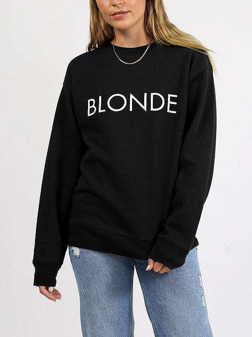 """BRUNETTE THE LABEL - """"BLONDE"""" Crew Sweatshirt"""