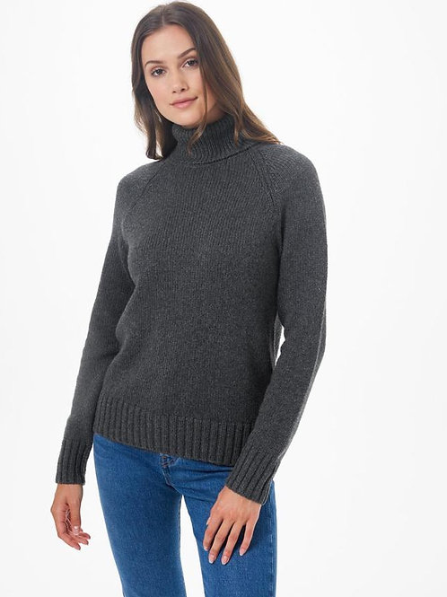 TENTREE - Highline Wool Turtleneck Sweater - DARK GREY HEATHER