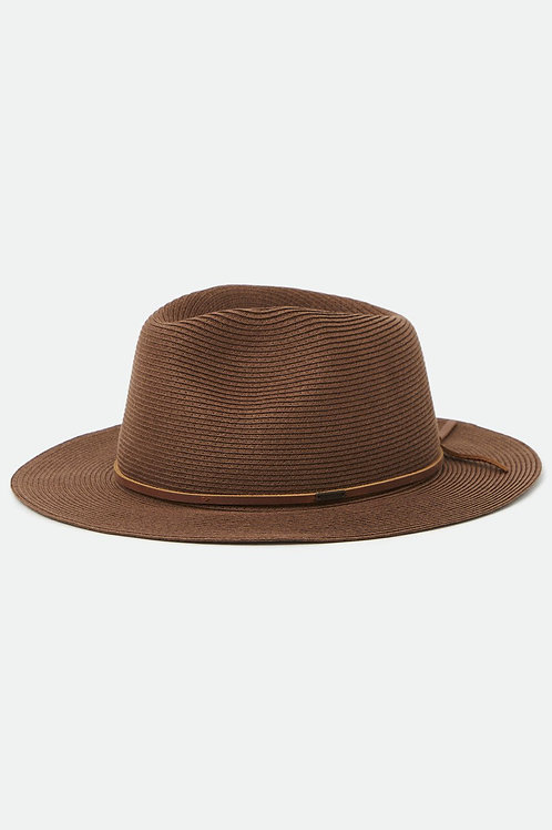 BRIXTON - Wesley Straw Packable Fedora