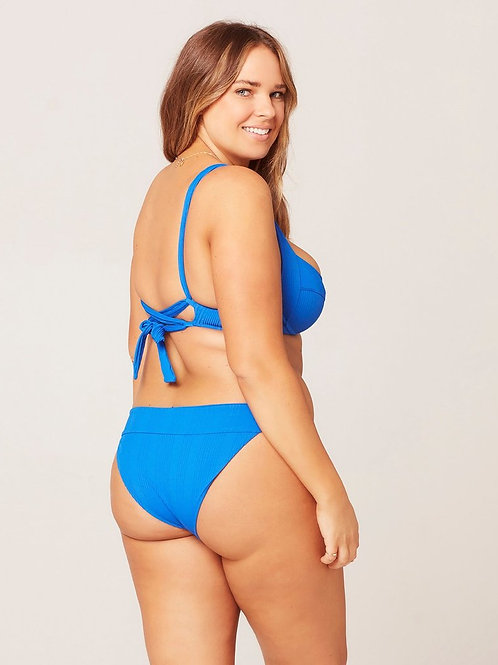 L*SPACE - Veronica Pointelle Rib Bikini Bottom Royal