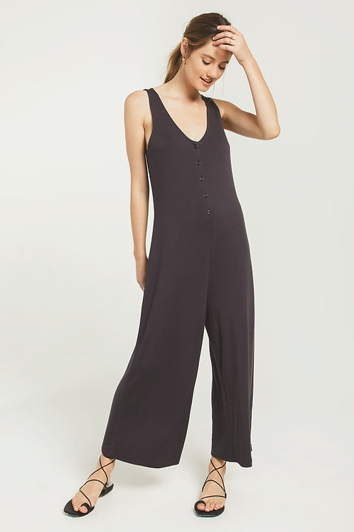 Z SUPPLY MOJAVE JUMPSUIT WASHED BLACK