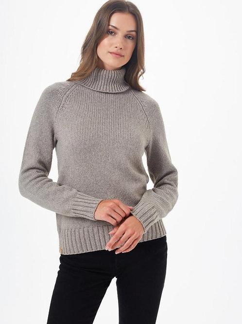 TENTREE - Highline Wool Turtleneck Sweater - DESERT TAUPE HEATHER