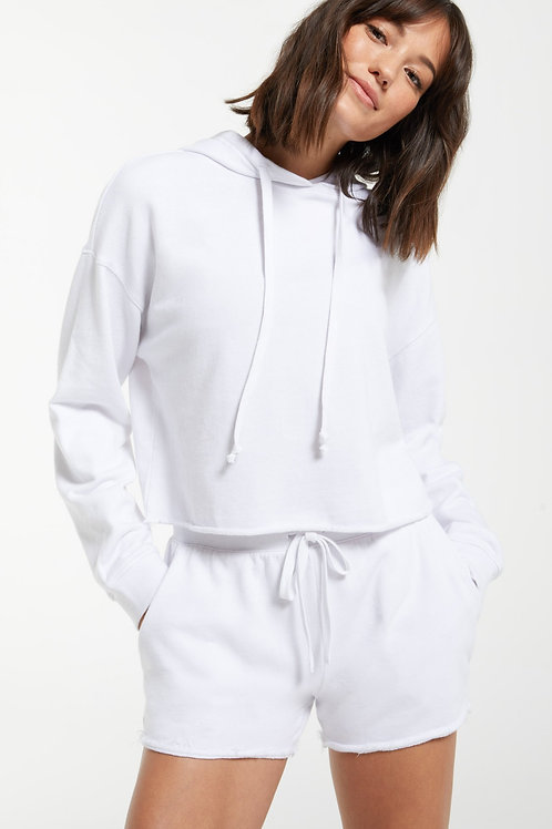 Z SUPPLY - Gia Washed Hoodie WHITE