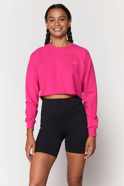 SPIRITUAL GANGSTER - Happy Izzy Crop Sweatshirt