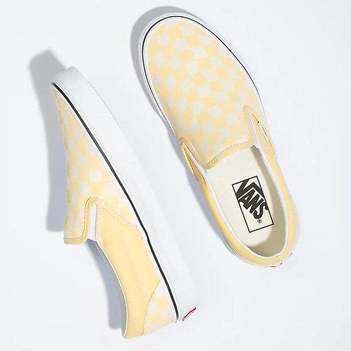 VANS - Classic Checkerboard Slip-On Shoe - Golden Haze/True White