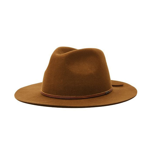 BRIXTON - Wesley Packable Fedora - Coffee