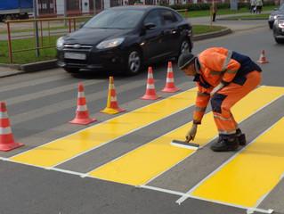 К началу нового учебного года в Омске обновят дорожную разметку