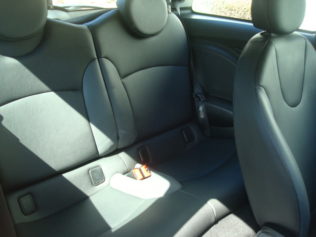 2007 Mini Cooper rear seats