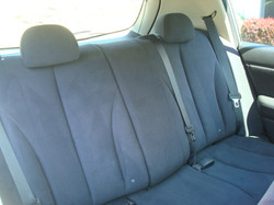 2008 Nissan Versa rear seats