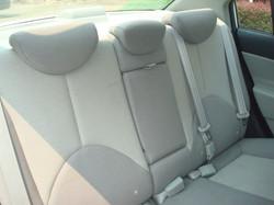 2009 Hyundai Accent rear seat