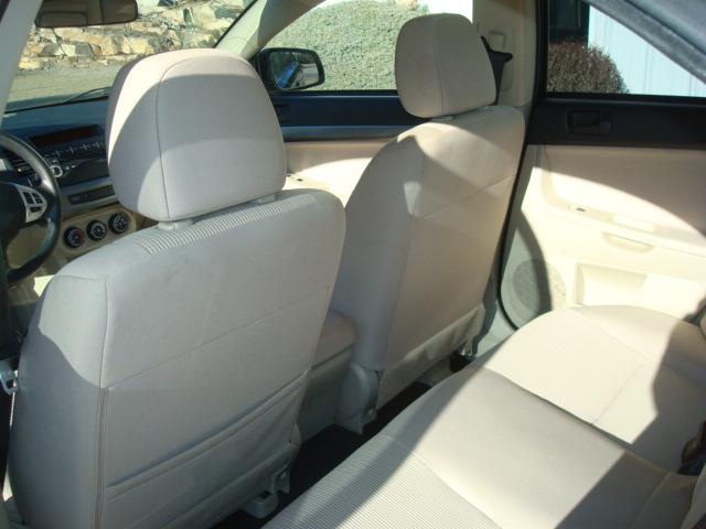 2011 Mitsubishi rear seat