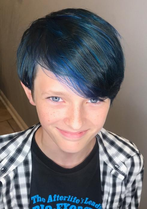 Blue Hair, Mens Cut