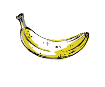 illustrated banana