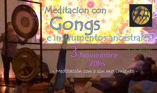 Meditación con Gongs 3/11/2018