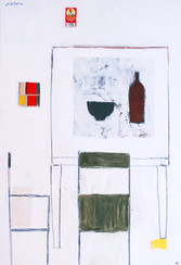 Table 2 chaises blanc