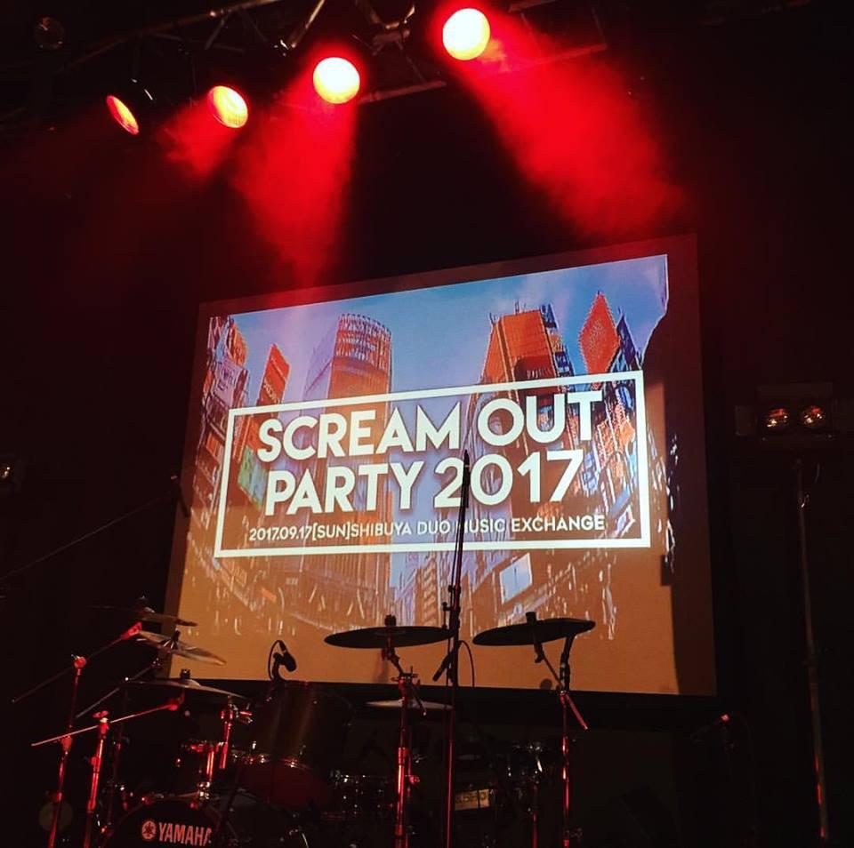 渋谷duo Music Exchangeにて行われた海外アーティスト1組、国内アーティスト5組出演のイベント「Scream Out Party 2017」の舞台監督、及び出演アーティストとの事前制作やり取りを担当。