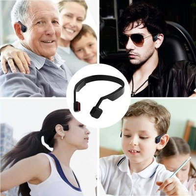 Bone Conduction Headphones - Bluetooth 4.0, 123dB, 200mAh Battery, Hands-Free Ph