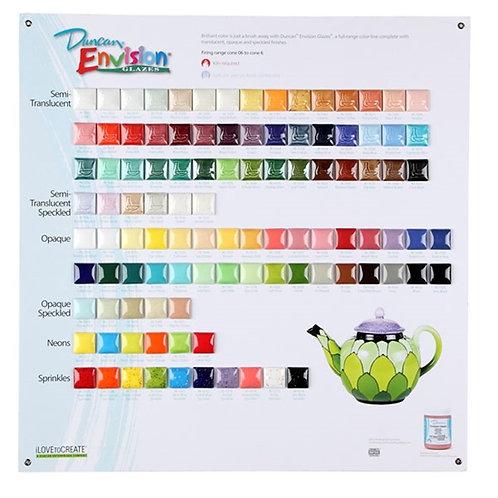 Envision Glazes Tile Chart