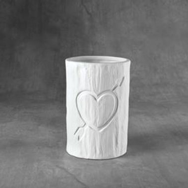 Tree Carved Heart Vessel  Case of 6