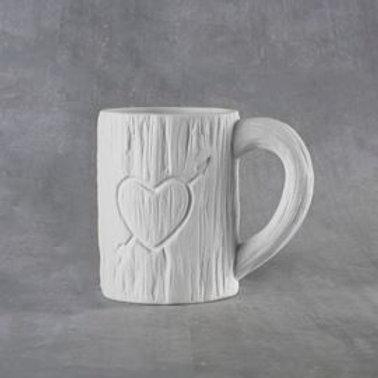 Tree Carved Heart Mug 12oz  Case of 6