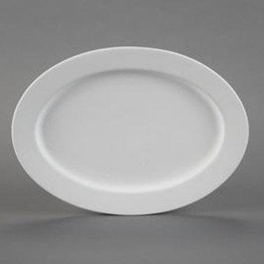 Rimmed Oval Platter  Case of 6