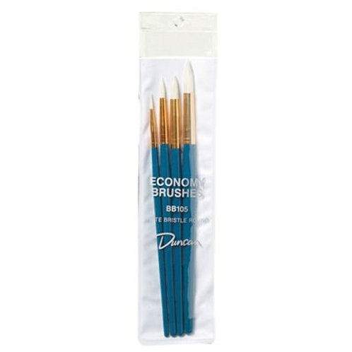 White Bristle Round Brush Kit