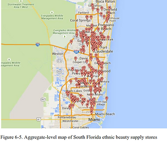 aggregate map of beauty supply stores