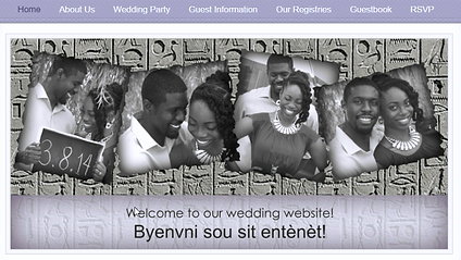 website design wedding