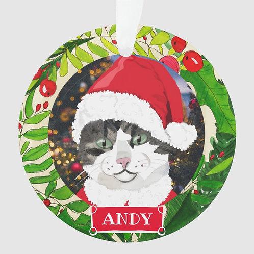 Custom Holiday Cat Ornament