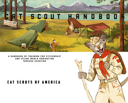 Inside title page spread, The Cat Scout Handbook