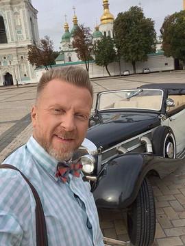 """Антін Мухарський під час зйомок телепрограми """"Секретний фронт"""""""