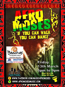 BEACHES_POSTER_AFRO MOSES_13th MARCH_AFR