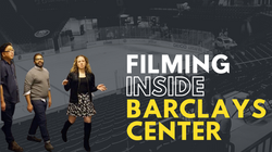 Filming Inside Barclays Center