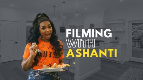 Filming with Ashanti