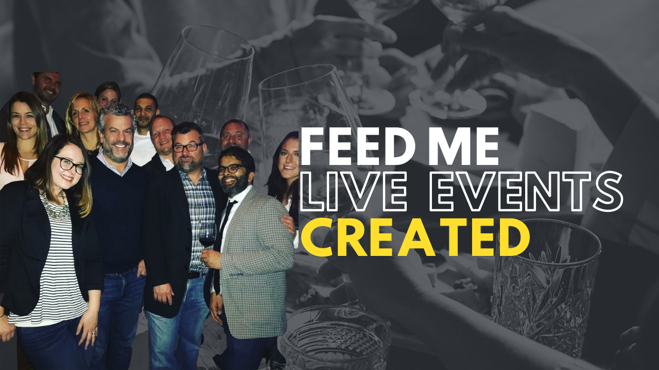 The first live event was a sold out Feed Me TV viewing party at Tellers Chophouse