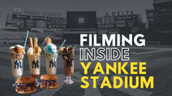 Filming inside Yankee Stadium