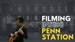 Filming inside Penn Station