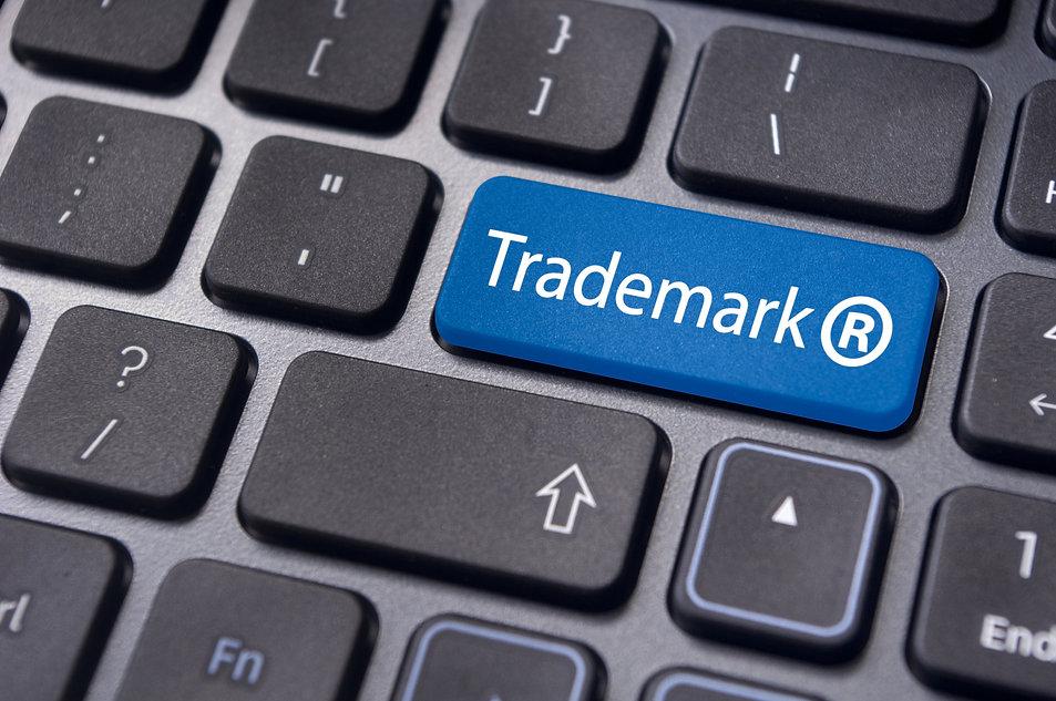 Trademark symbol and trademark on keyboard
