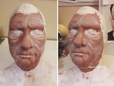 Lon Chaney prosthetics sculpt