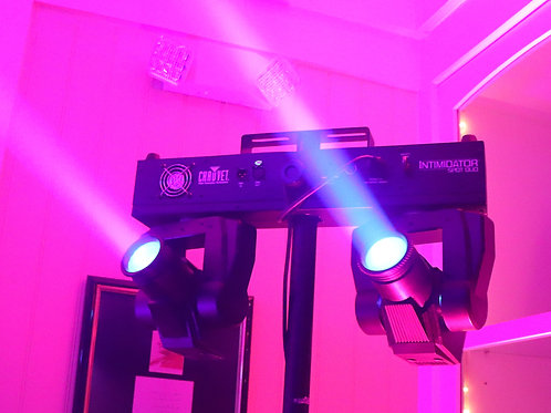 2 chauvet duo moving head lights