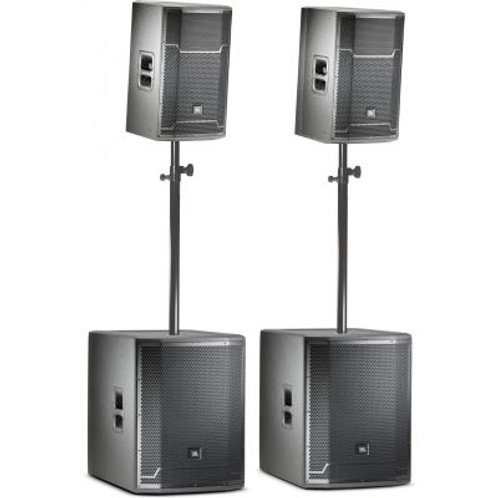 "Bass boom 2 prx712 top and 2 18"" sub woofer system 6000 watts"