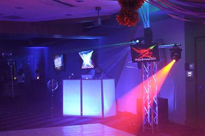 Corporate party DJ sound lighting