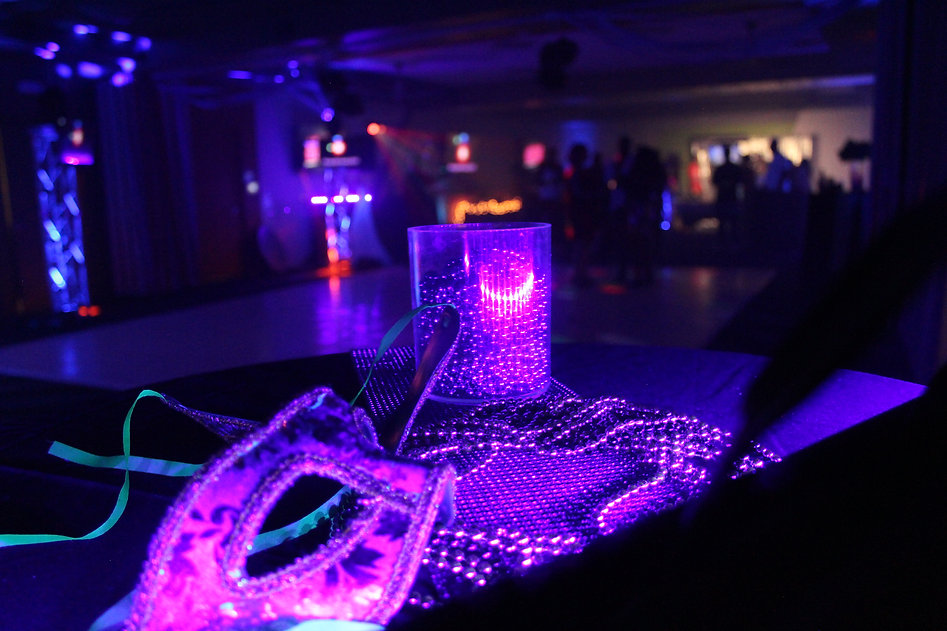 corporate party lighting and DJ and photo booth