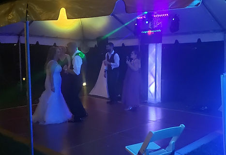 outdoor wedding DJ