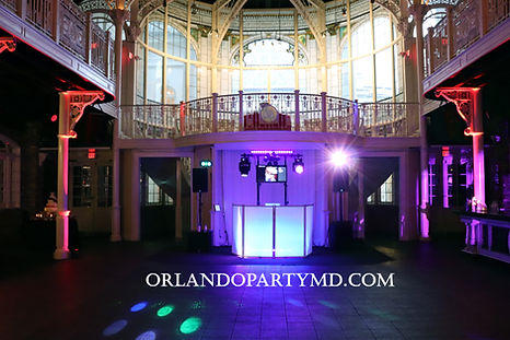Wedding DJ service at the crystal ballroom downtown Orlando