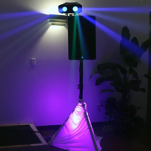 2 ADJ Laser lights speaker mounted