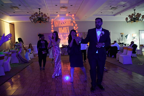 ballroom wedding DJ reception party with social distancing
