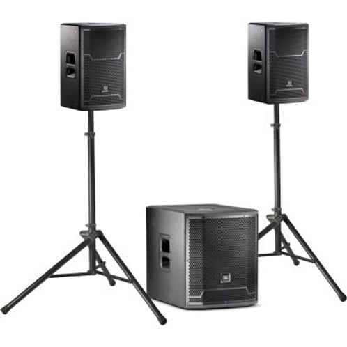 Full Range sound 2 JBL prx712 top speakers and 1 prx718 sub-woofer 4500 watts